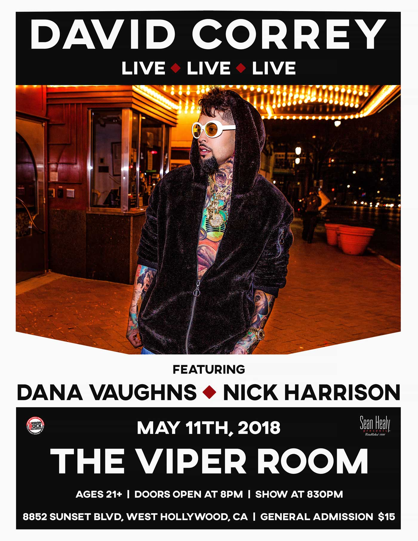 David Correy LIVE @ The Viper Room Friday, May 11th, 2018
